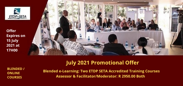 ETDP SETA Promotion Assessor Training Course & Facilitator or Moderator